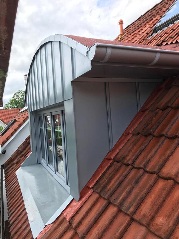 Metallarbeiten/Stehfalzarbeiten Dachgaube