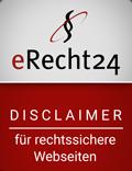 eRecht Siegel Disclaimer